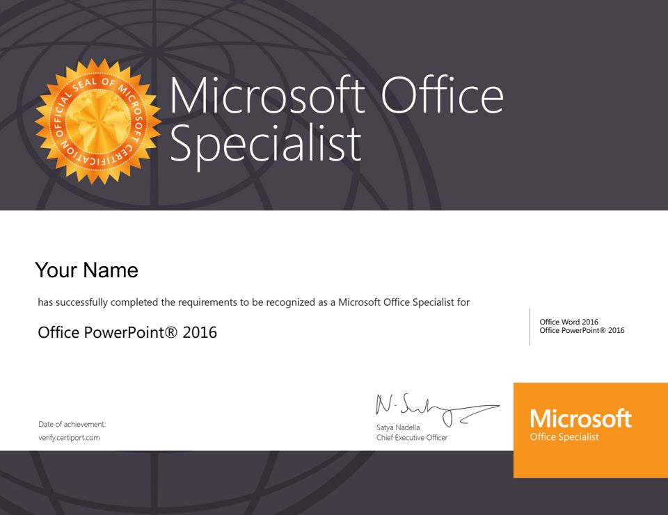 Microsoft Office Specialist (MOS) Excel